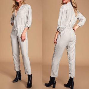 🆕 Light Grey Long Sleeve Coverall Jumpsuit